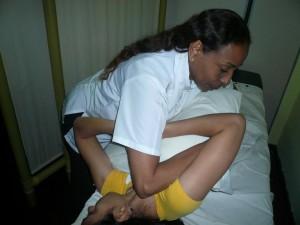 Paciente Osteopatia con dolor lumbar