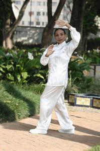 Chi Kung, Ejercicio para estabilizar la columna